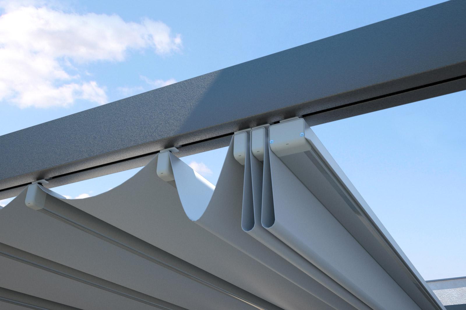 Copertura Per Esterni Plastica.Copertura Per Esterni In Alluminio One Con Telo Impacchettabile