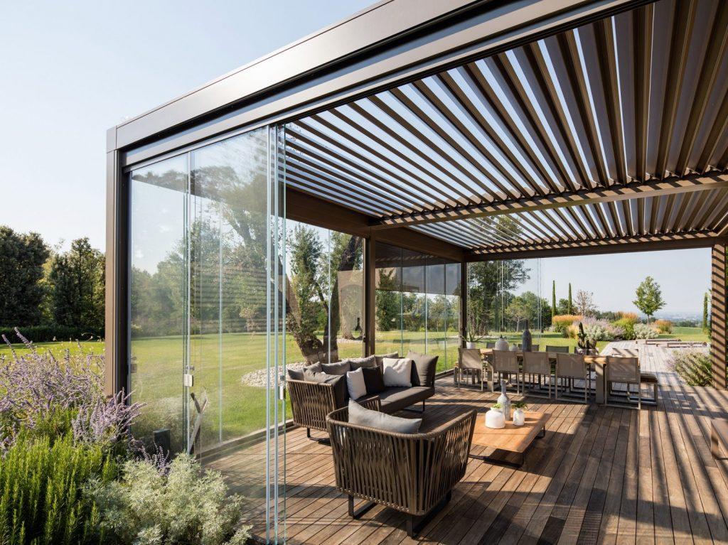 Giardino d'inverno, casa privata. Modello Opera