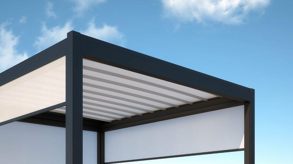Aluminum pergolas with PVC canopy