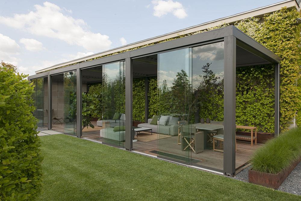 Applicazione di vetrate Slide Glass. Modello Opera