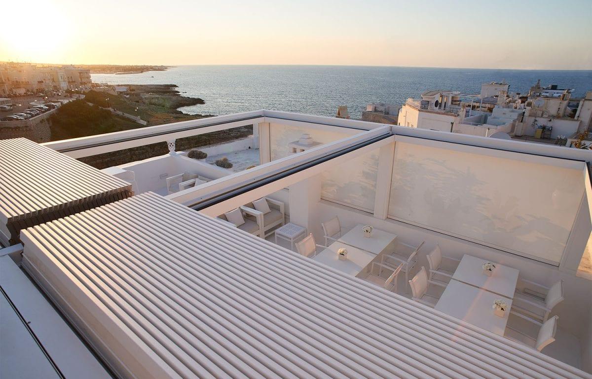 Pergola bioclimatica Brera P Boutique Hotel San Michele Suite Polignano a Mare