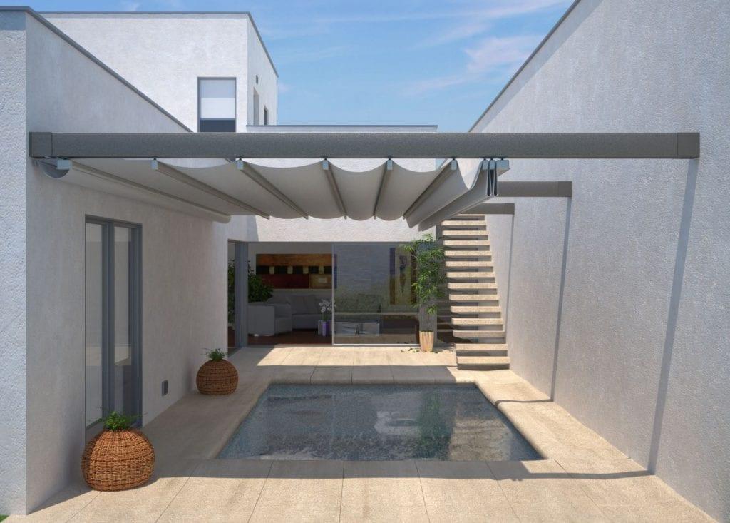 Terrazzi con copertura in PVC