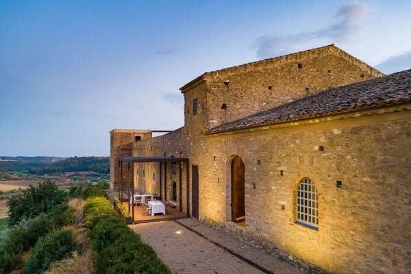 Pergola Vision per la terrazza della sala ristorante del Wine Relais Feudi del Pisciotto
