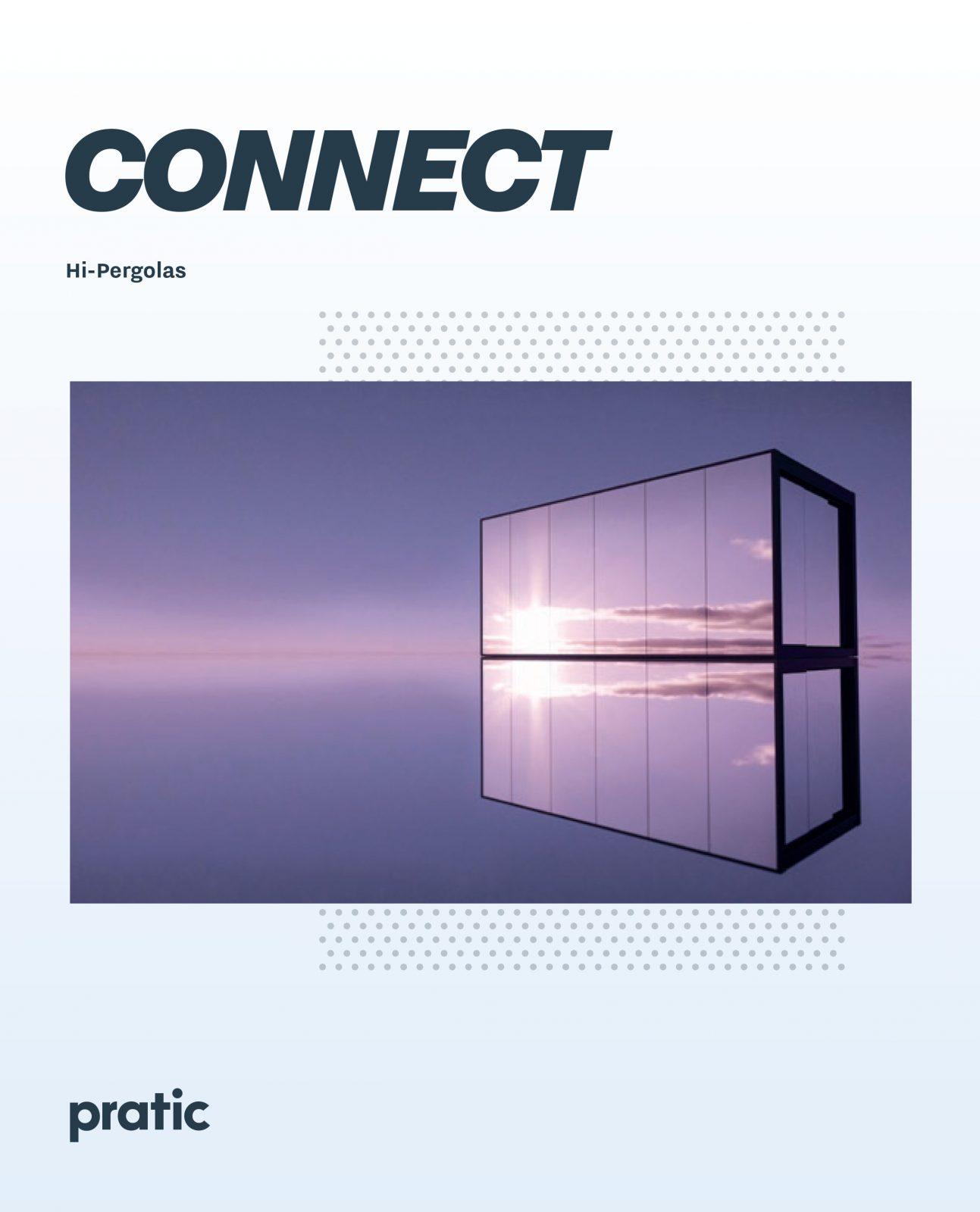 Connect pergola bioclimatica con vetrate specchiate