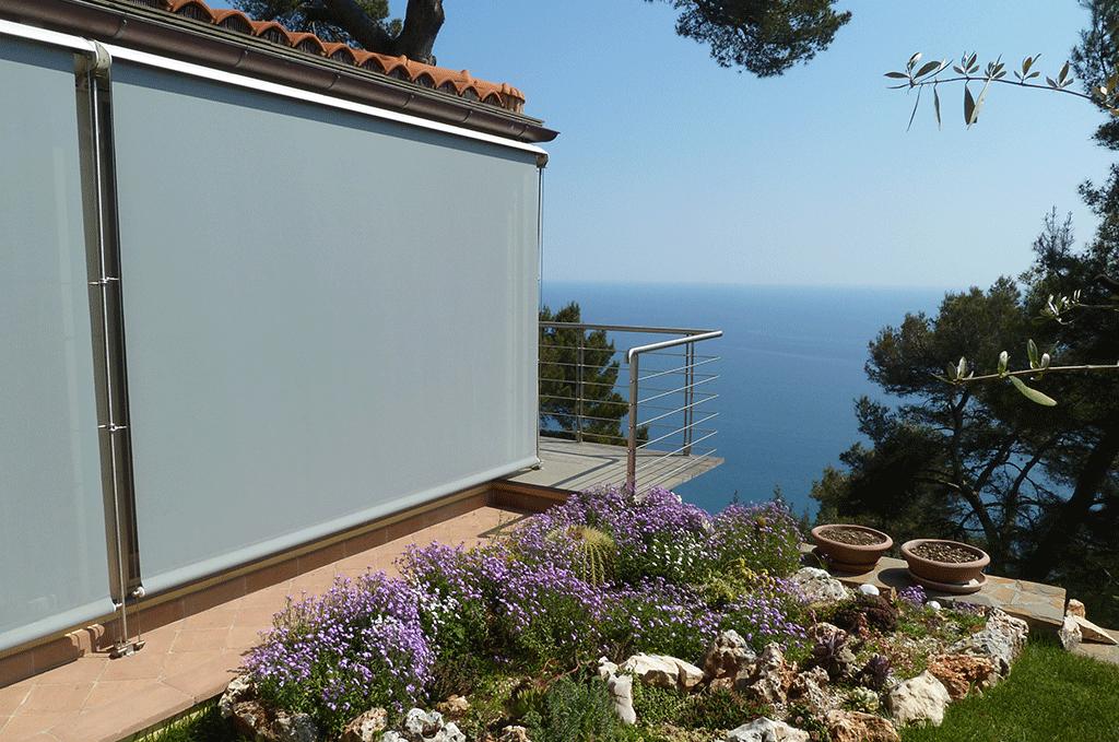 Tenda per balconi a caduta verticale X2