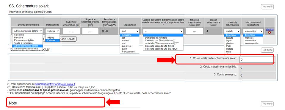 Modulo ENEA per detrazione ecobonus per schermature solari