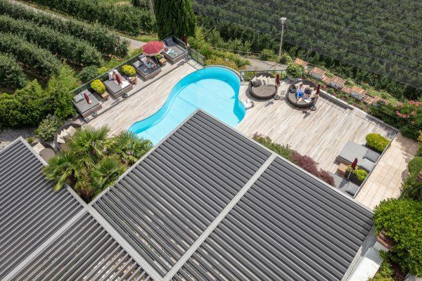 pergola bioclimatica vision per hotel e alberghi